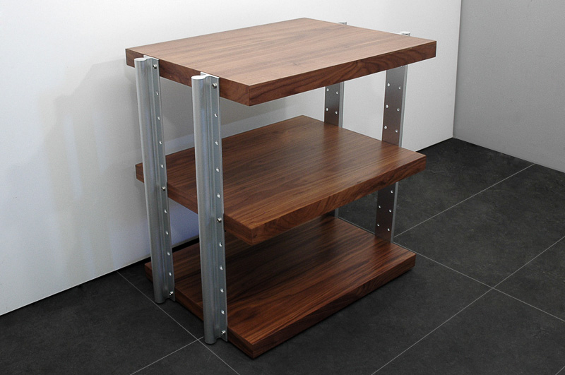 highend hifi rack 4 ebenen nussbaum r60 ebay. Black Bedroom Furniture Sets. Home Design Ideas