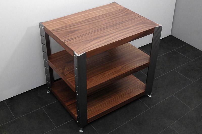 highend hifi rack 3 ebenen nussbaum r70 ebay. Black Bedroom Furniture Sets. Home Design Ideas